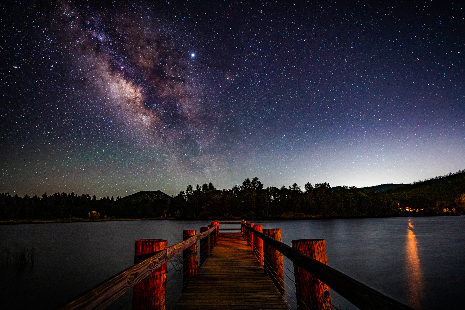Milky Way, Lake Cuyamaca near Julian, California by Ryan Fulkerson