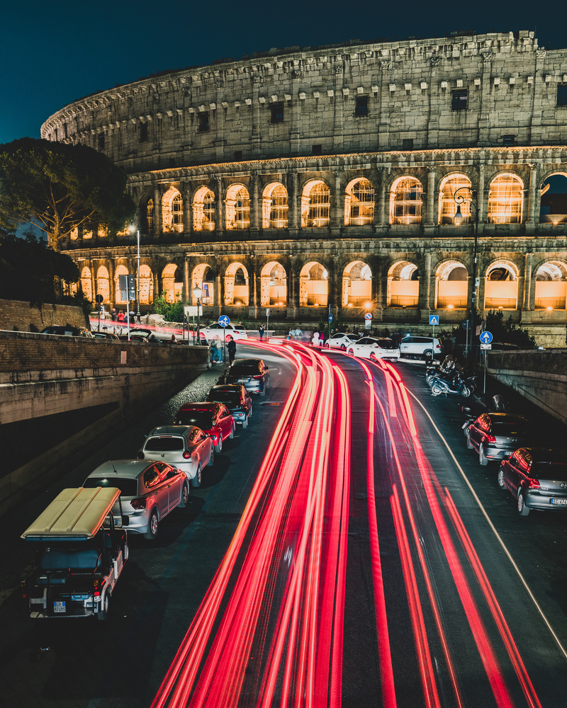 The Coliseum At Night by Ryan Fulkerson