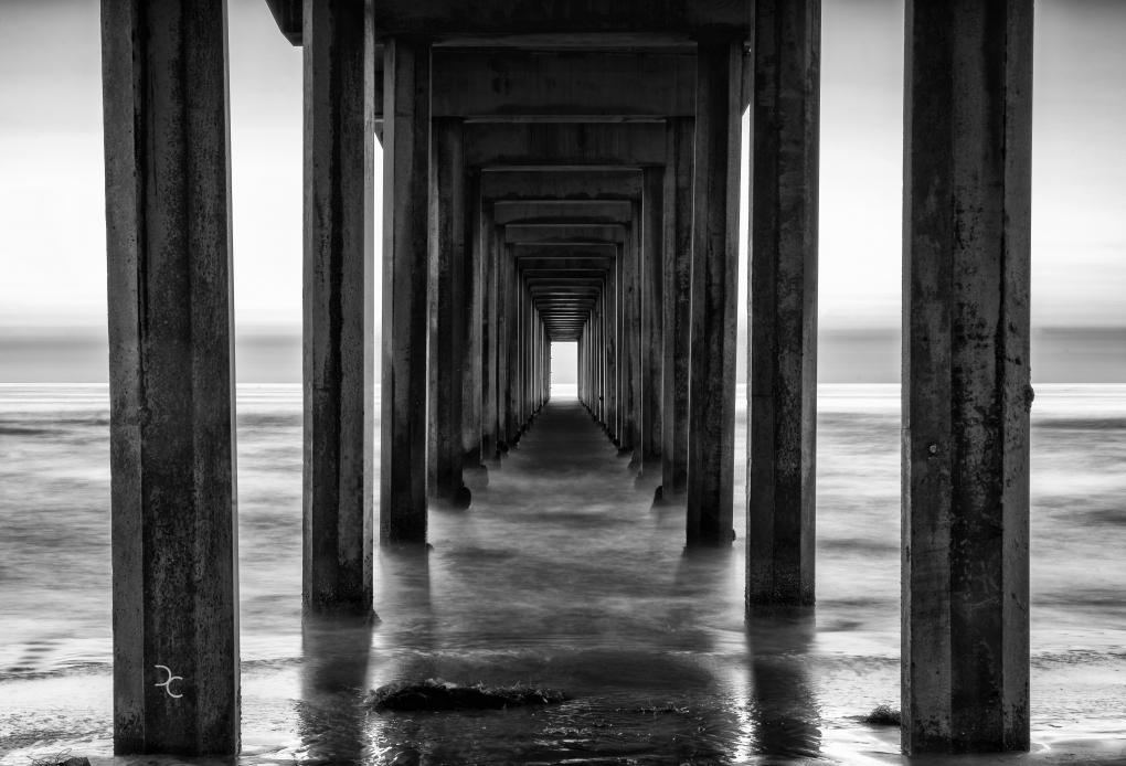 Scripps Pier by David J. Crewe