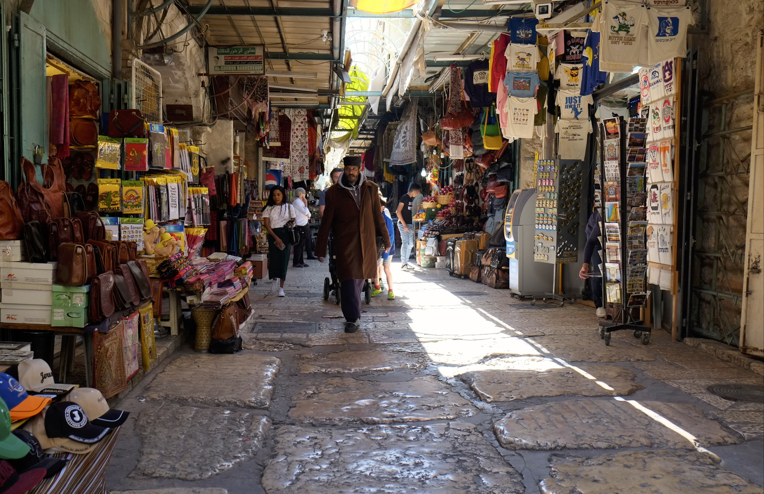 The old city in Jerusalem by Marian Pollock