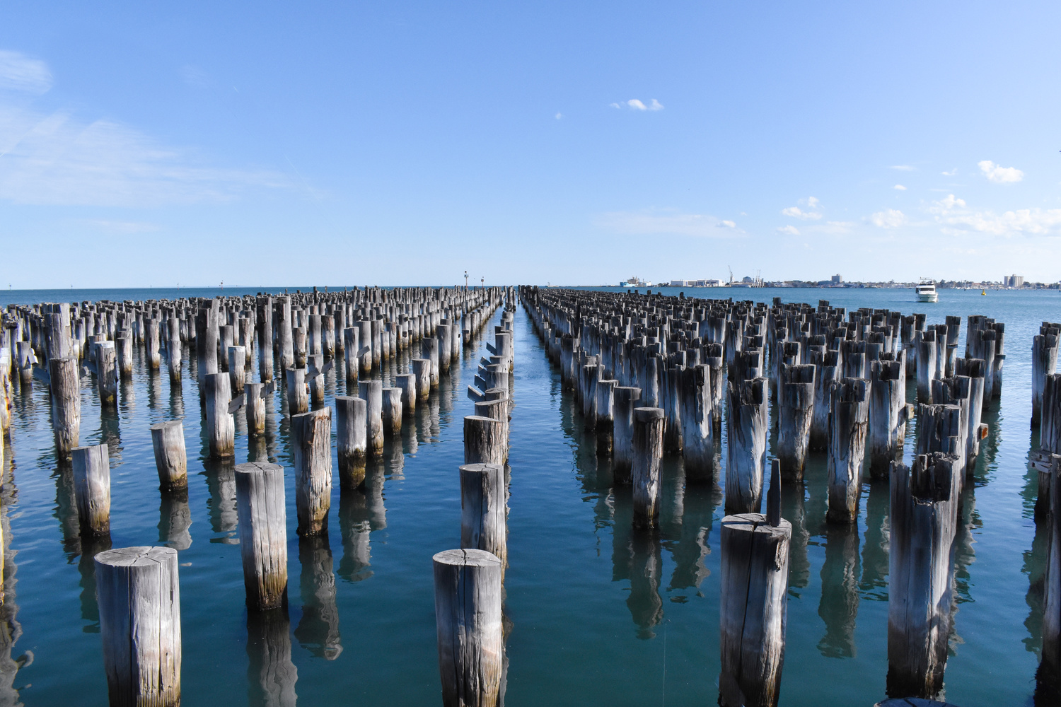 Remnants of a Pier, Melbourne by Marian Pollock