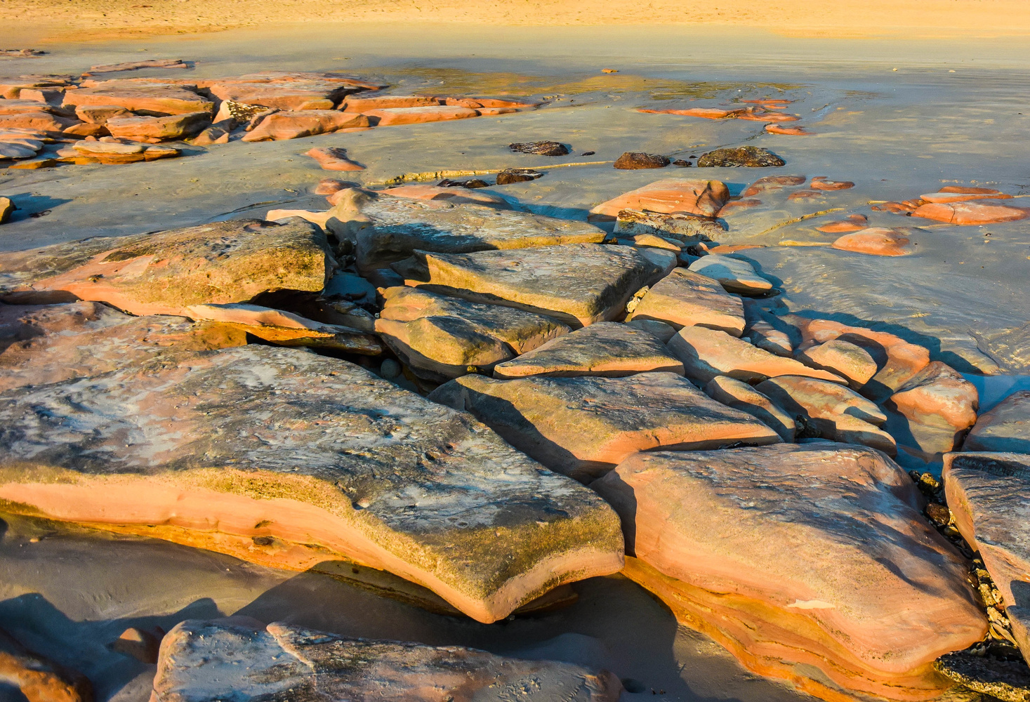 Broome rocks @ sunset - Australia by Marian Pollock