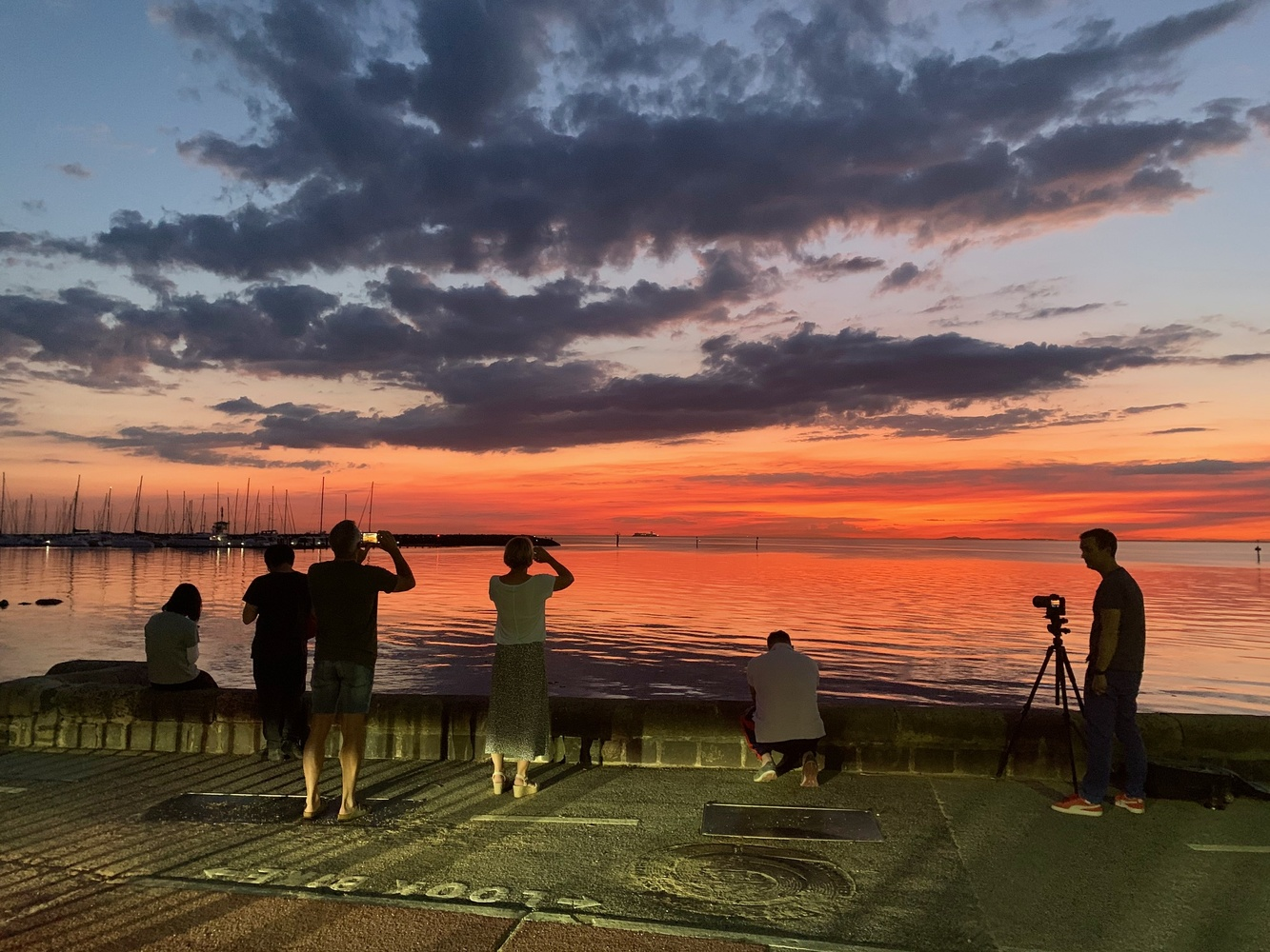 Bayside sunset in Melbourne by Marian Pollock