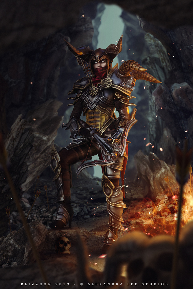 Demon Hunter Diablo III by Alexandra Brumley