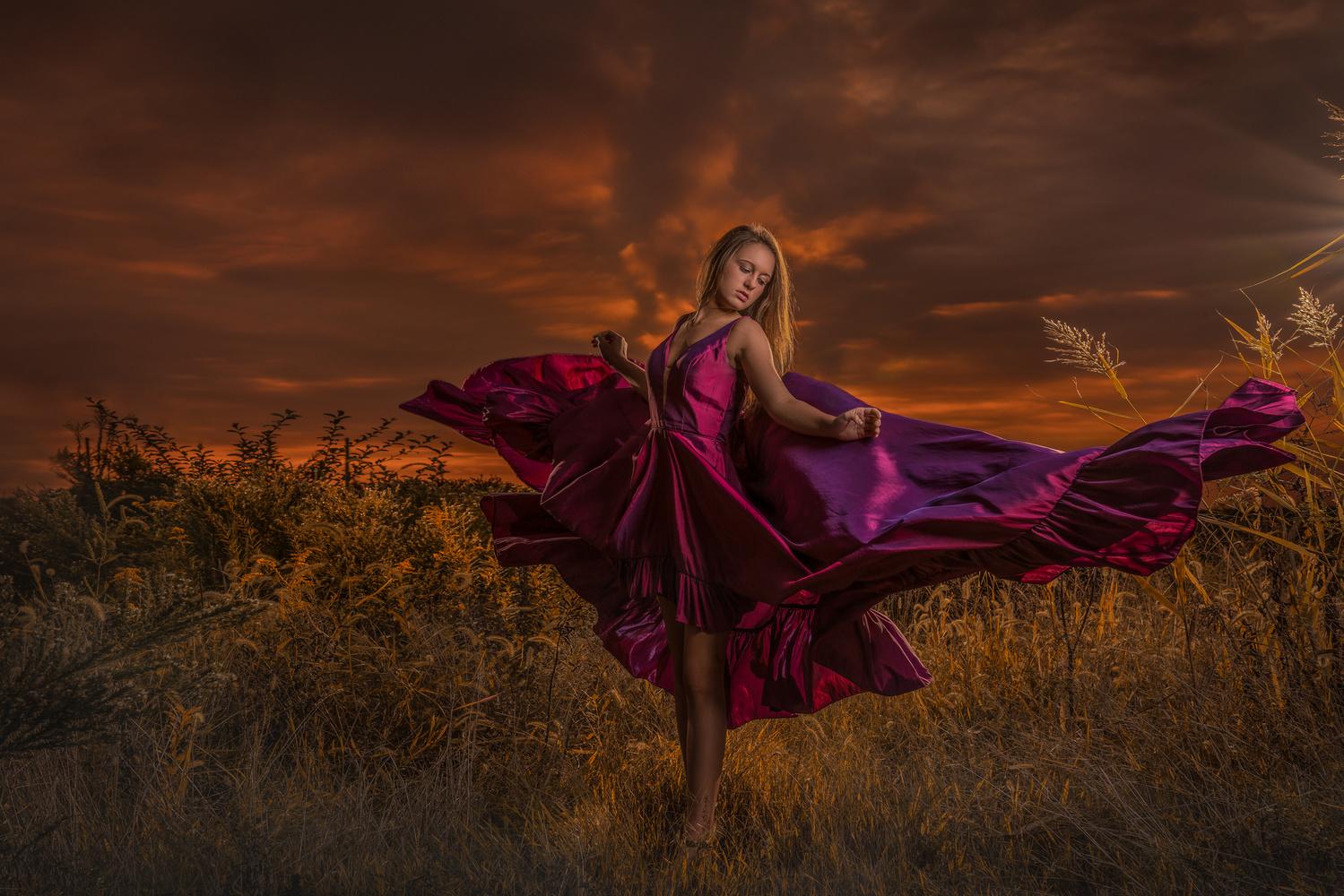 Flowing fabric by Dan Rowe