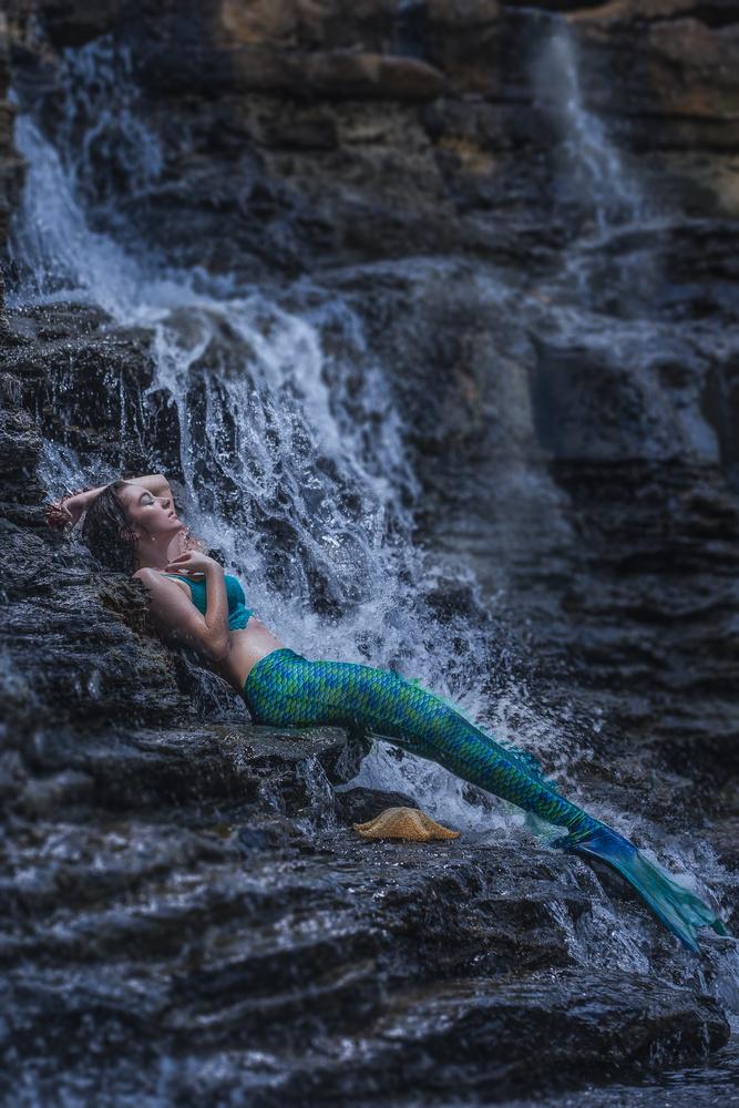 Mermaid out of water by Dan Rowe