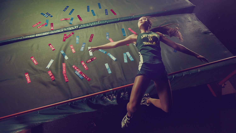 The winning jump by Dan Rowe