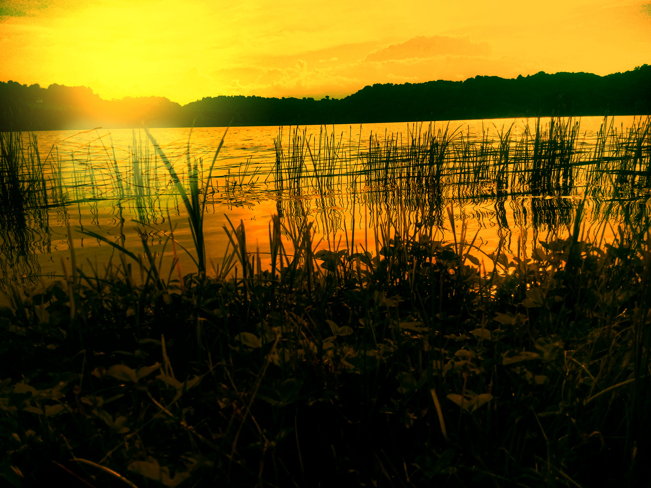 Lake in sunset by Dijana Kr