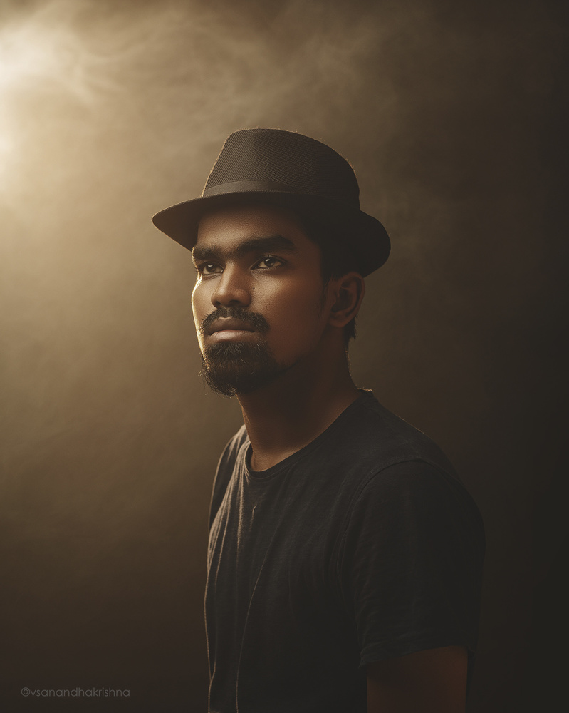 Studio head shot by V.S. Anandhakrishna