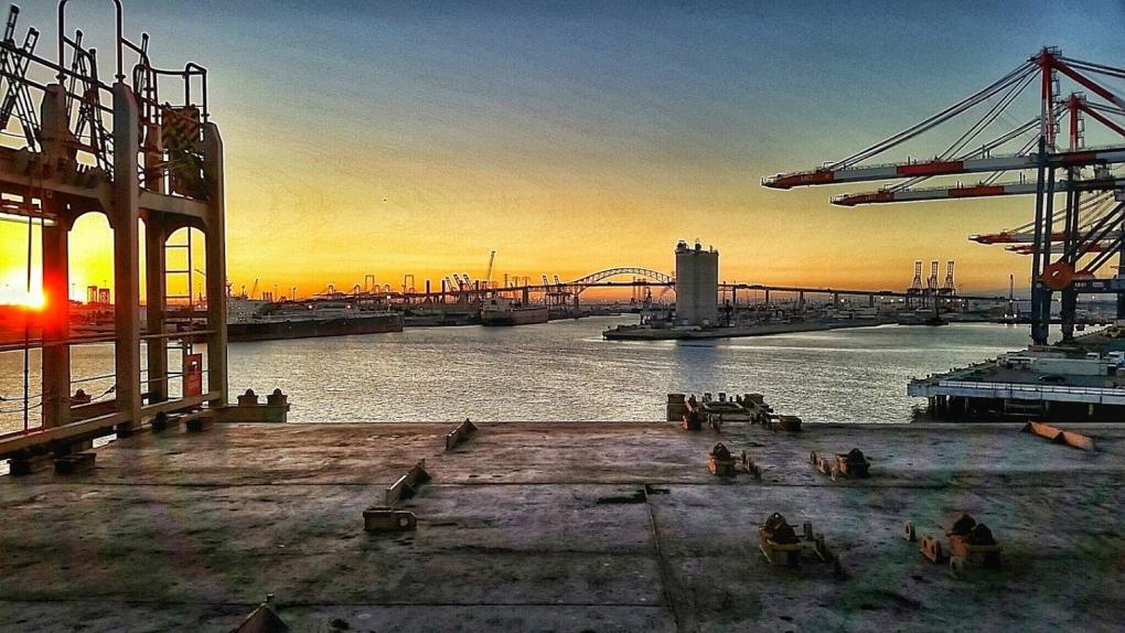 Port of Long Beach by Ed Hutchinson