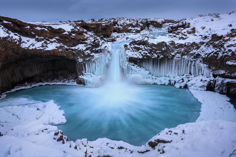 Winter Aldeyjarfoss by Hugo Valle