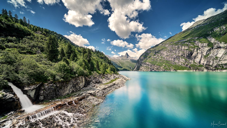 Lake Zervreila by Mauro Caviezel
