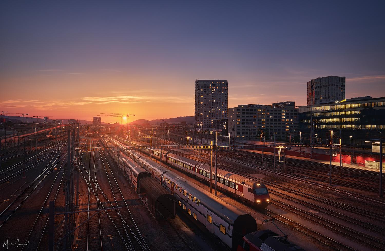 Burning Train Tracks by Mauro Caviezel