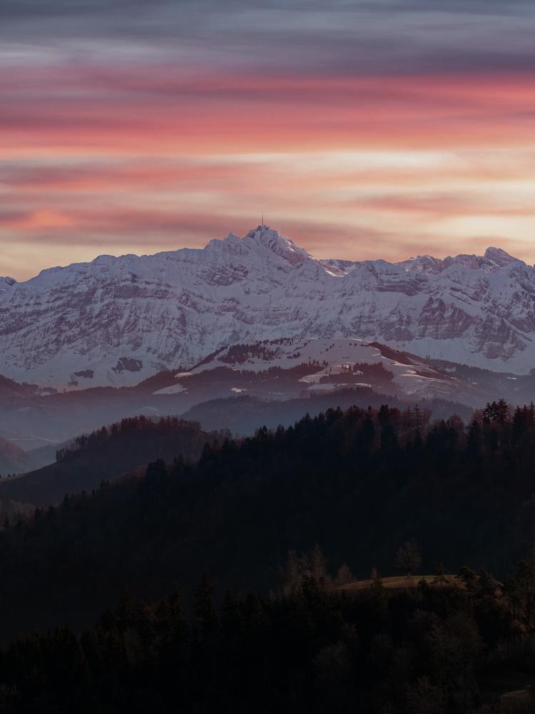 Sunset winter mood by Jonas St
