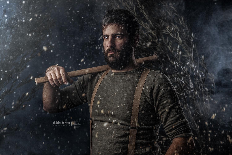 the woodman by Akis Douzlatzis