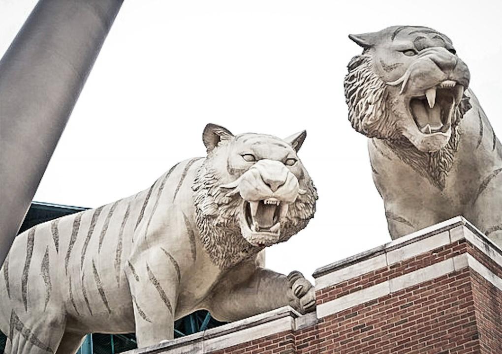 Tigers at Comerica Park by Karen Decker