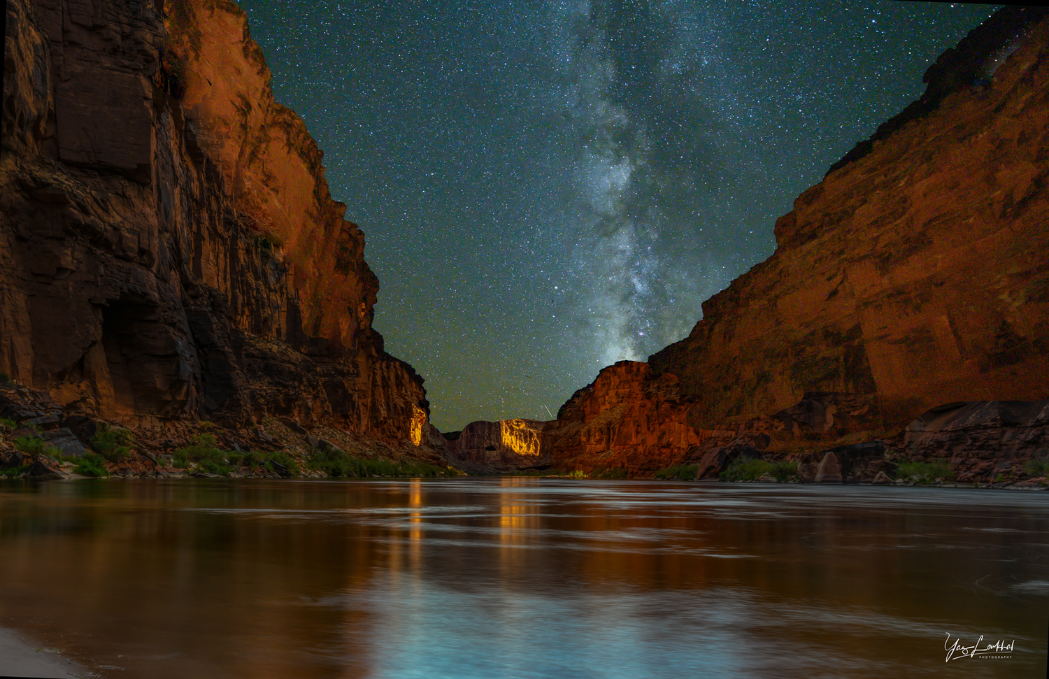 Milky Way Over the Grand Canyon by Yaz Loukhal