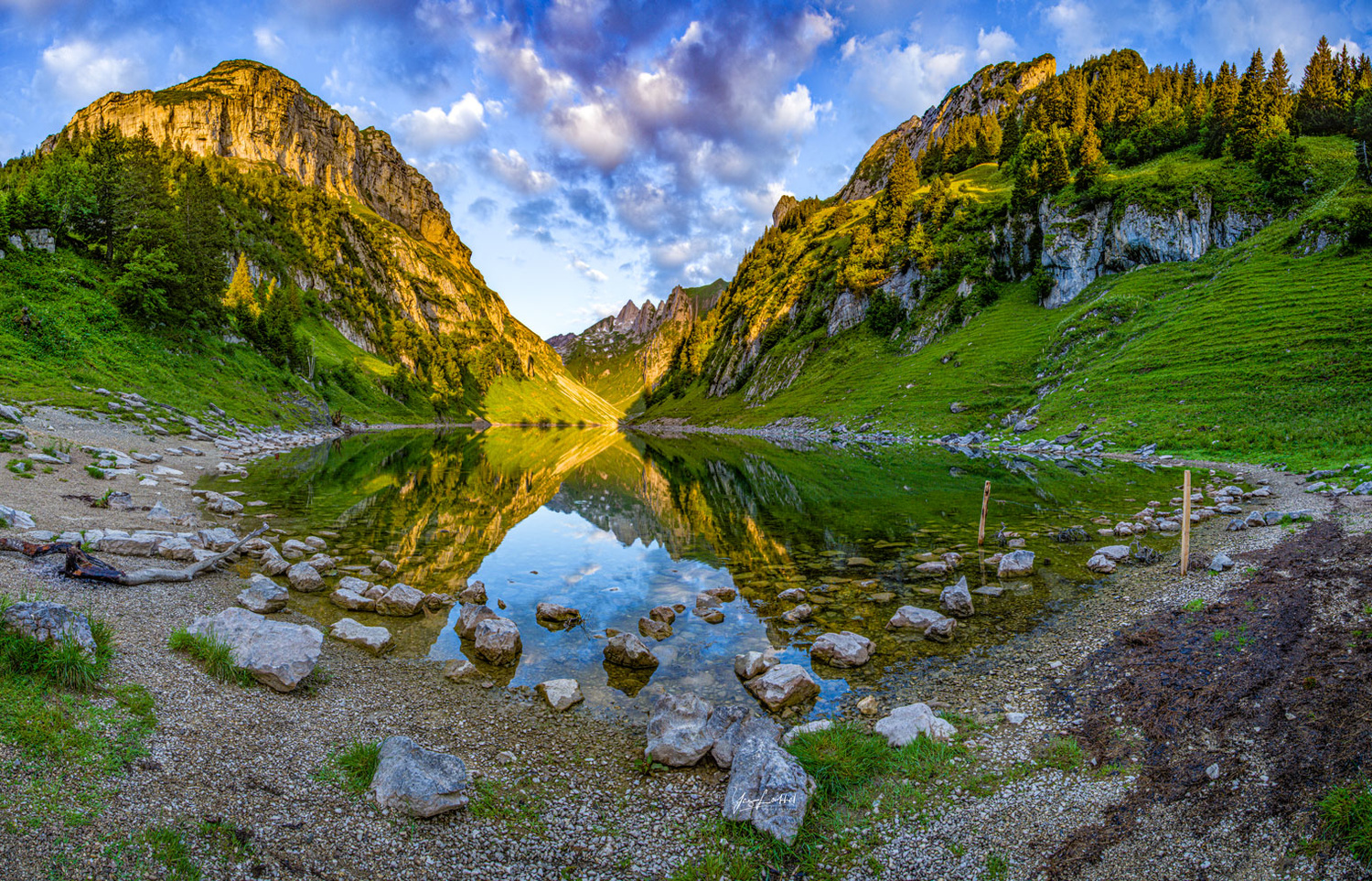 Fälensee panorama by Yaz Loukhal