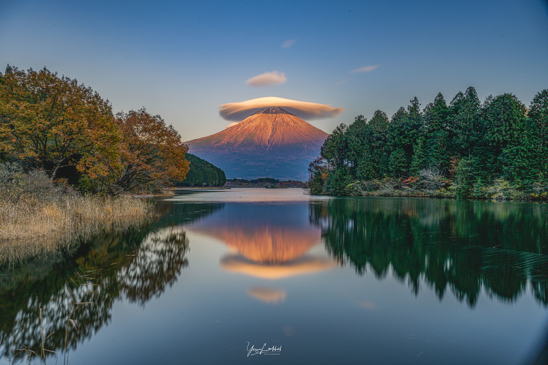 Mount Fuji Reflection by Yaz Loukhal