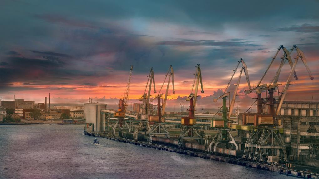 Harbor sunset by Krists Afanasjevs