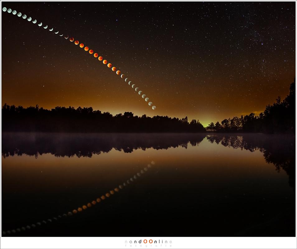 Lunar Eclipse sequence by Nando Harmsen