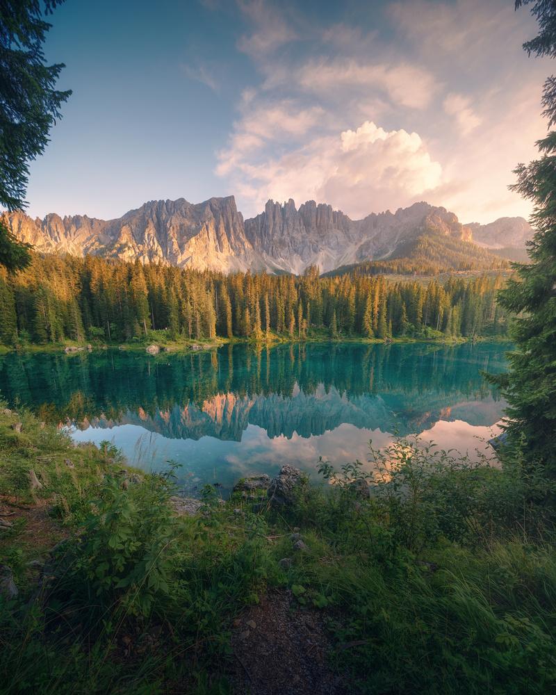 The reflection of Lago Di Carezza by DaniGviews /Daniel