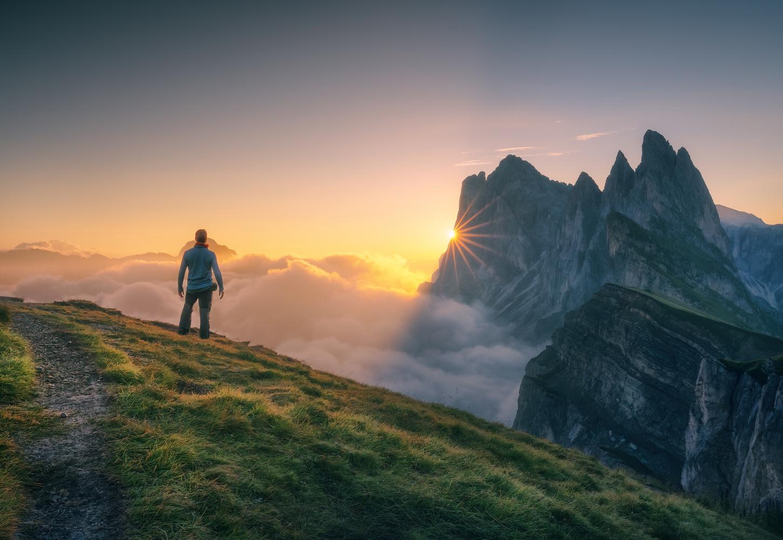 Sunrise in Seceda, Dolomites by DaniGviews /Daniel