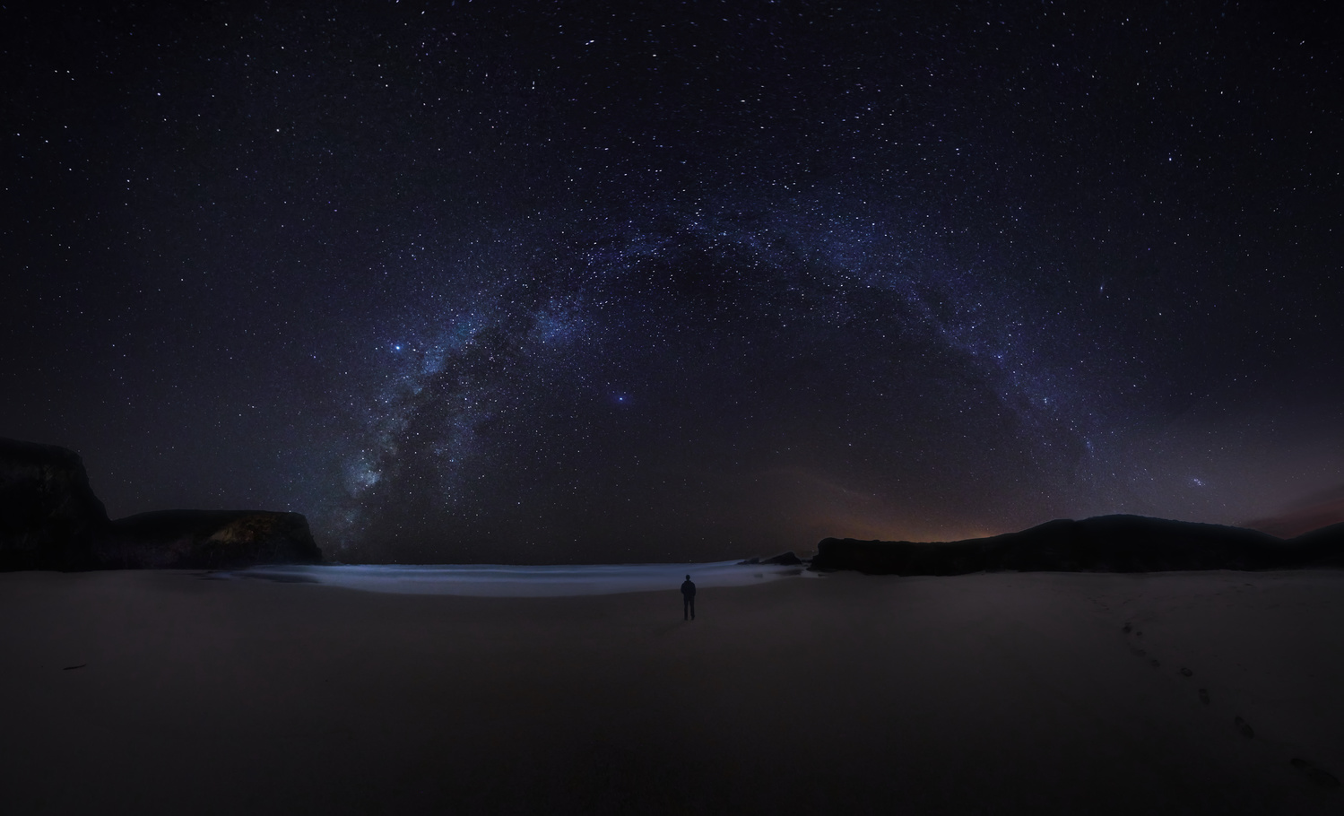Panoramic view of the milky way on the portuguese coastd 1 by DaniGviews /Daniel