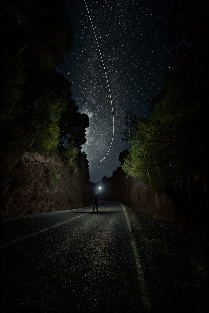 Milky way on the road El Chorro, Malaga by DaniGviews /Daniel