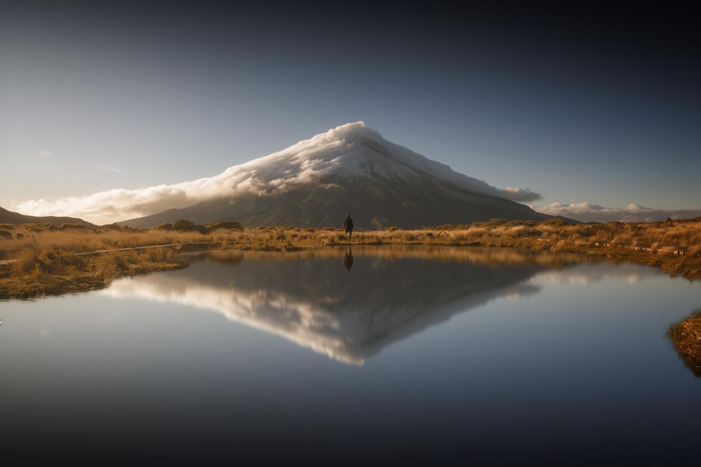 Reflections of Mount Taranaki, New Zealand by DaniGviews /Daniel
