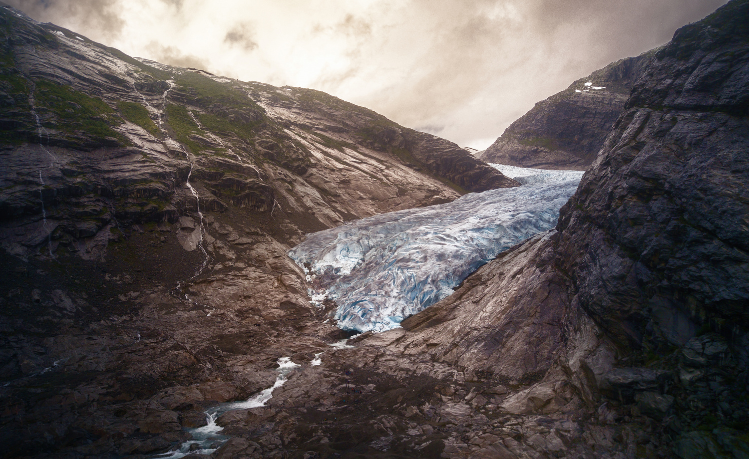 The tongue of the Jostedalsbreen Glacier, Norway by DaniGviews /Daniel