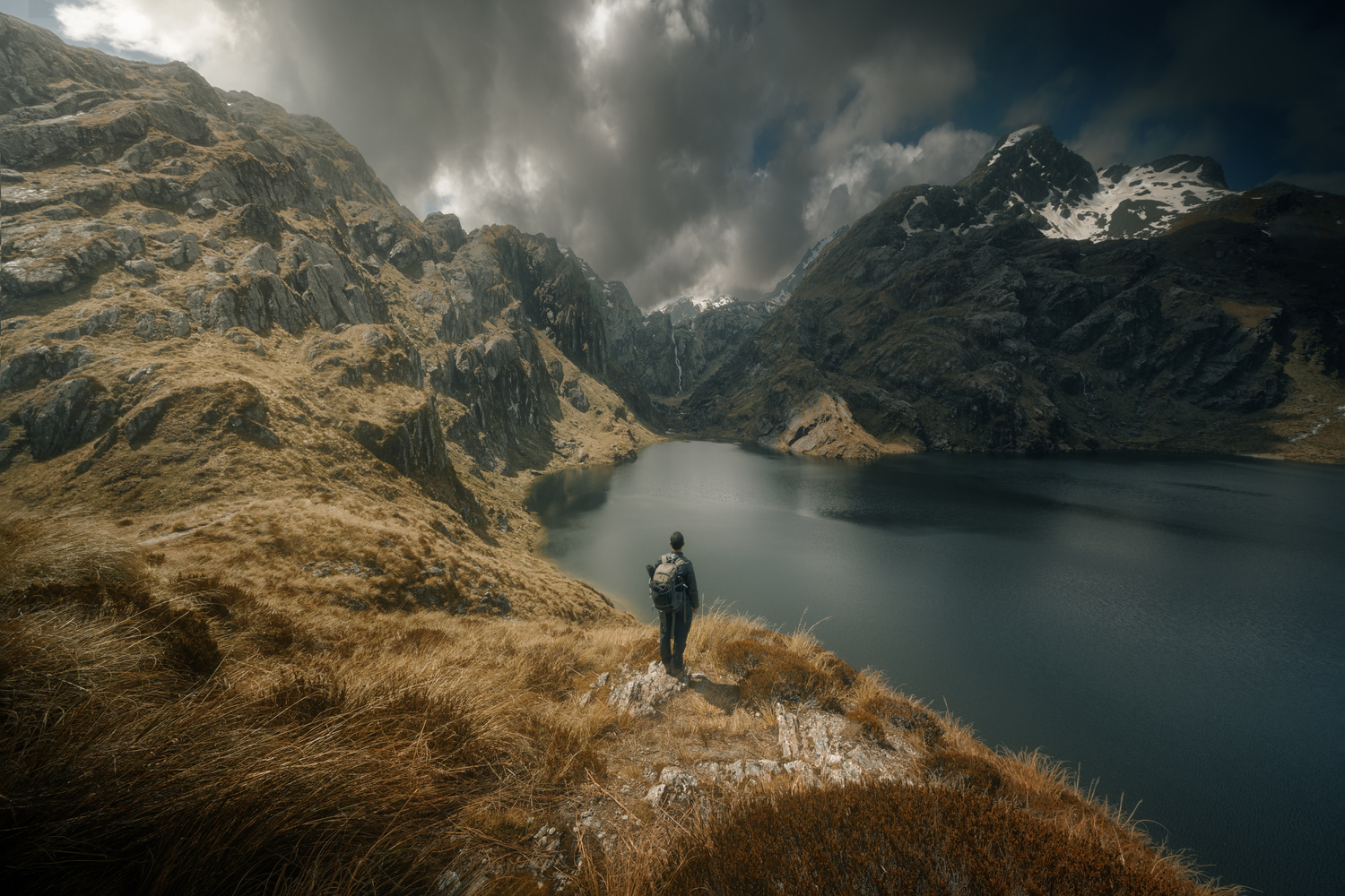 Gazing at Lake Harris on the Routeburn Track, New Zealand by DaniGviews /Daniel
