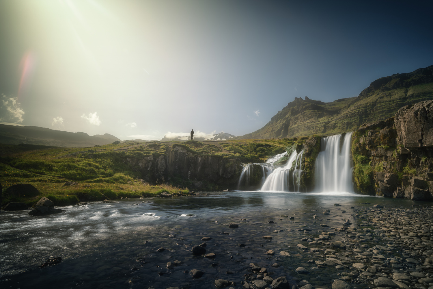 Image on the back of the famous kirkjufell, Iceland by DaniGviews /Daniel