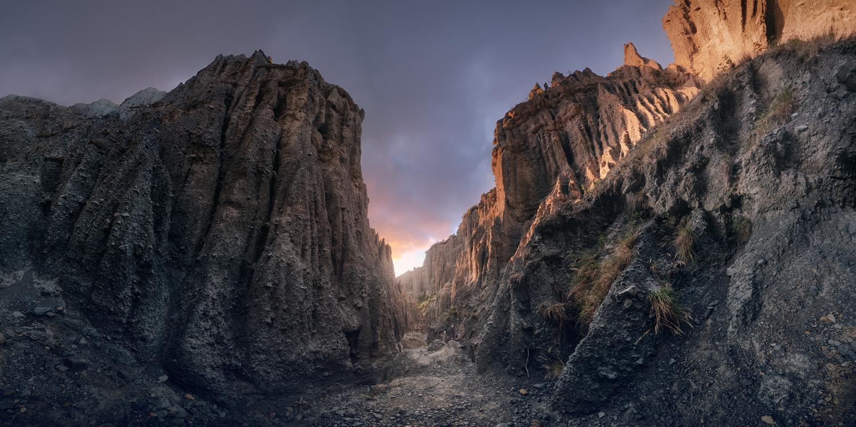 """The way is SHUT!"" (Putangirua Pinnacles, NZ) by DaniGviews /Daniel"