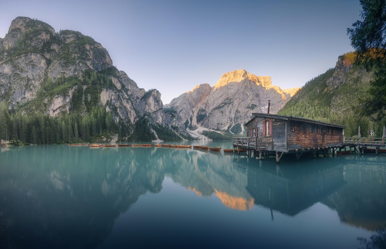 Sunrise at Lago di Braies, Italy by DaniGviews /Daniel
