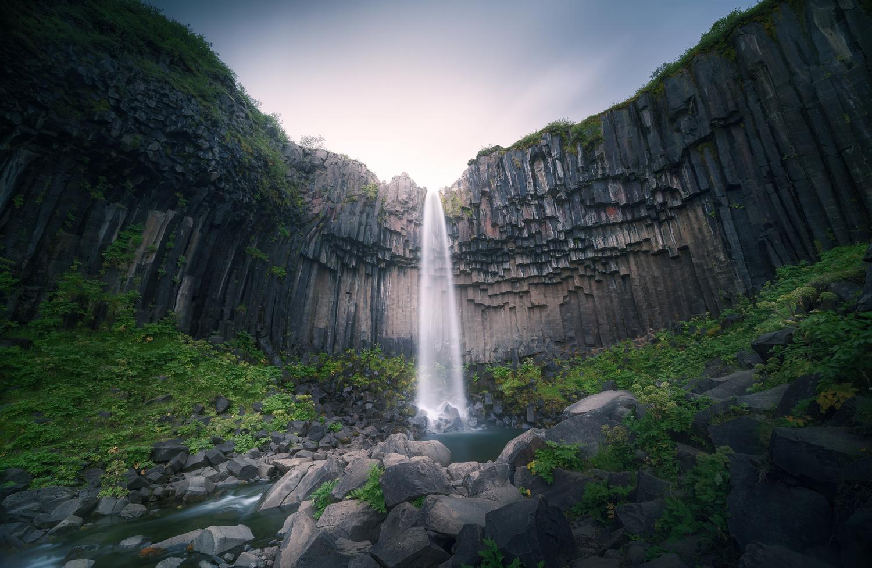 "The enjoyment of feeling ""enclosed"" by columns (Svartifoss, Iceland) by DaniGviews /Daniel"