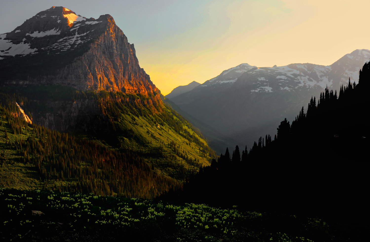 Sunset-Glacier National Park by J. Daniel Jenkins