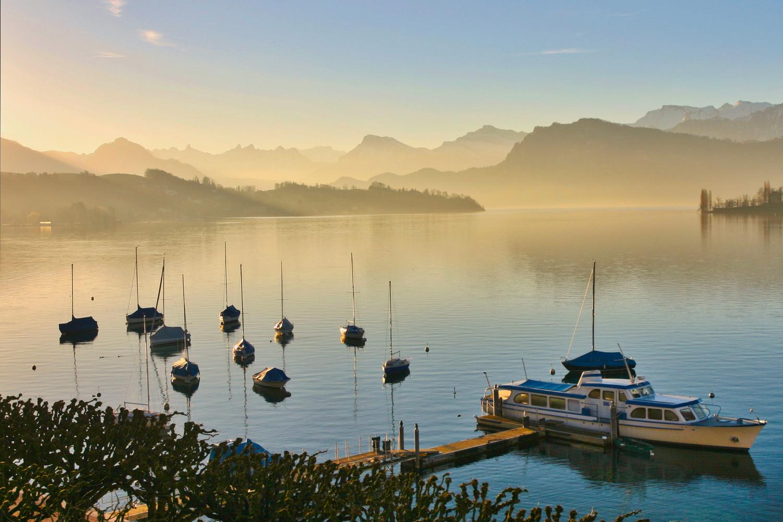 Sunrise-Lake Lucerne by J. Daniel Jenkins
