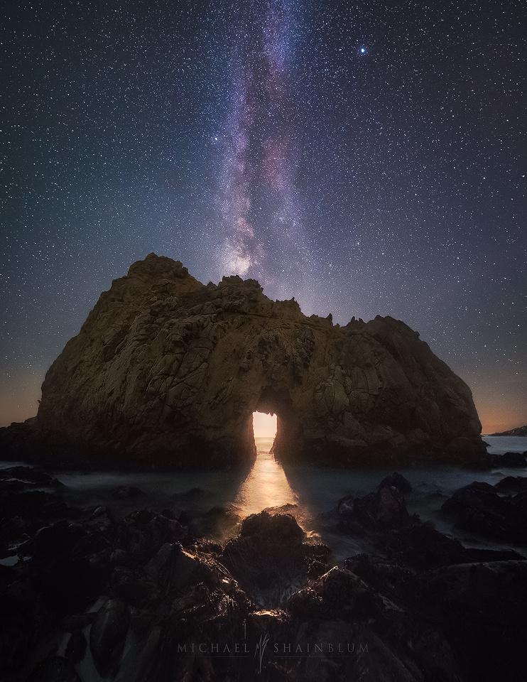 Temple of Moonlight by Michael Shainblum