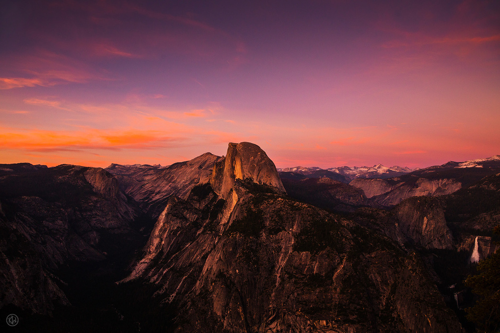 Sunset: Half Dome and the High Sierra  by Keith Walters