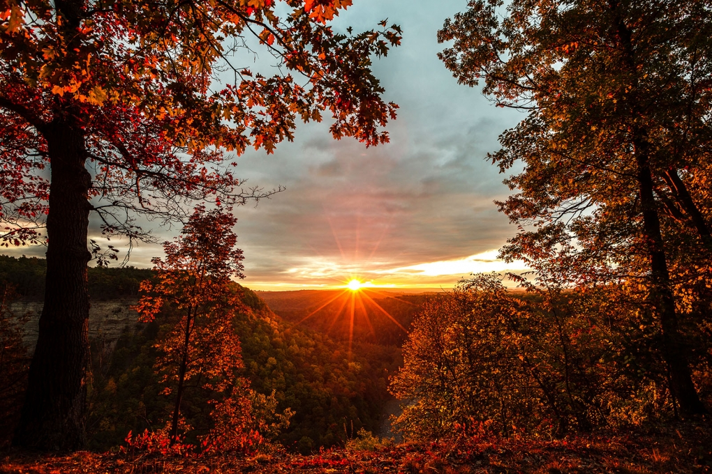 Letchworth State Park Sunrise  by Keith Walters