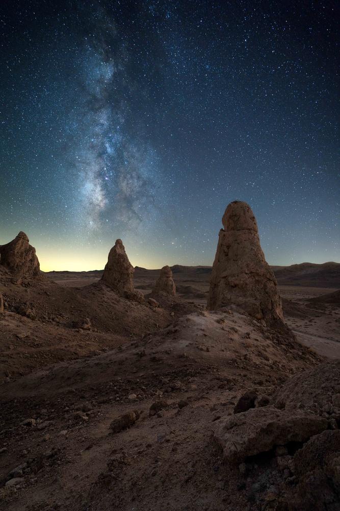 New Moons at Trona by Akbar Alikhan
