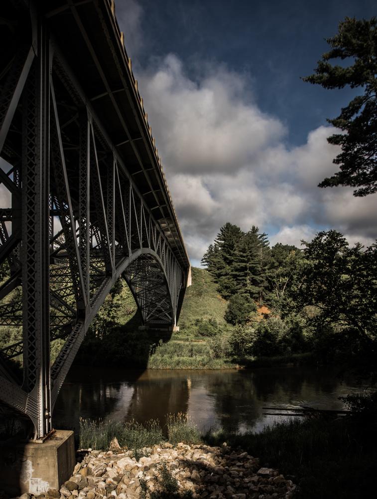 Bridge over Pine River by Robert Zilch