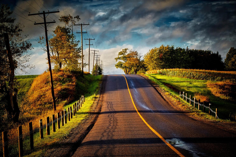 Country Roads by Hank Rintjema