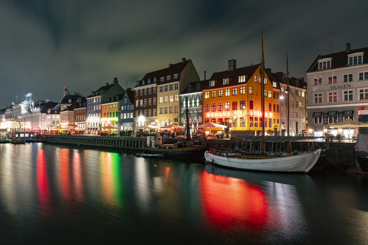 Copenhagen at Night by Sam Kilman