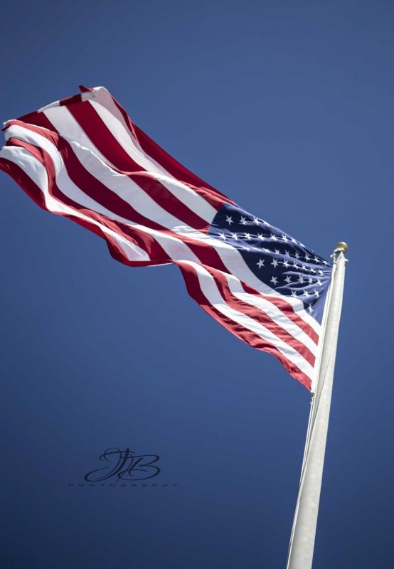 Flag of strength in Memories Wallow by Jody Baumle
