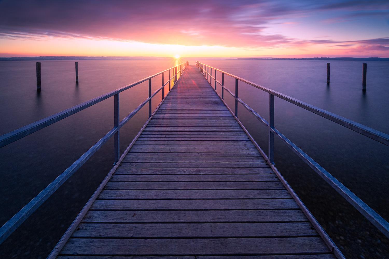 Calm sunset by Christian Möhrle