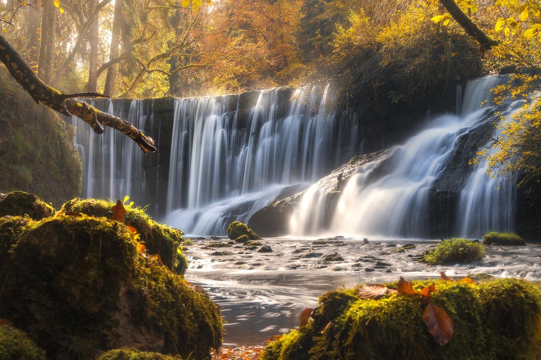 Autumn waterfall by Christian Möhrle