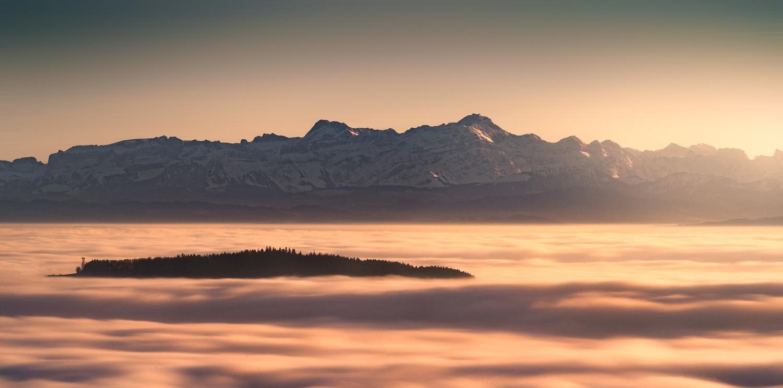 Sunset over a sea of Fog by Christian Möhrle