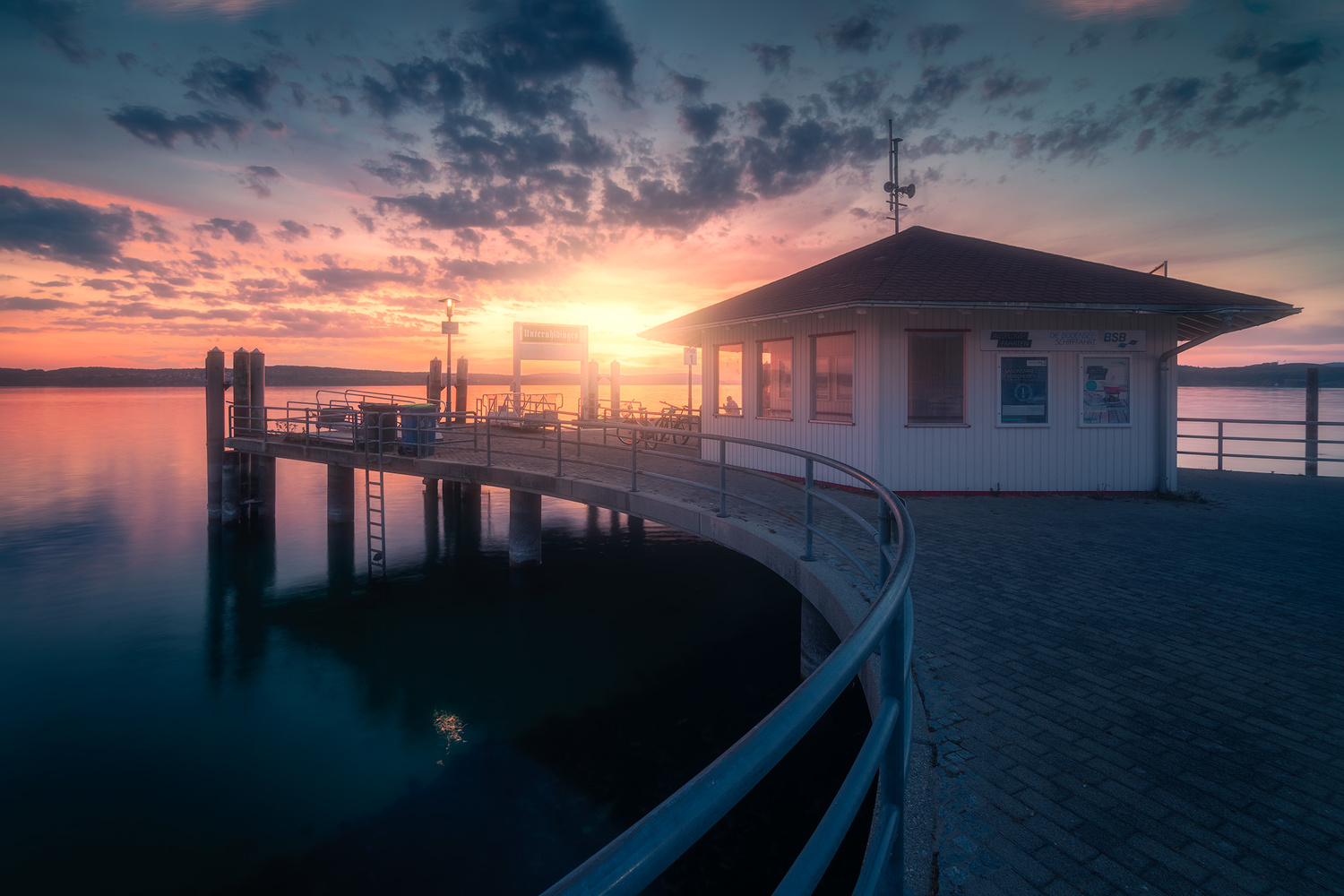 Sunset over Lake Constance by Christian Möhrle